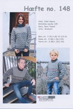Hæfte 148 Sweater Børn/Herre/Dame
