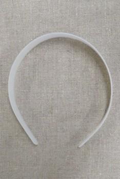 Plast hårbøjle i hvid 25 mm.
