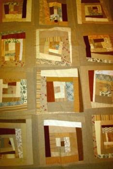 Tæppe i crazy patchwork
