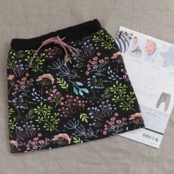 Pige nederdel syet i jersey efter Minikrea 50333