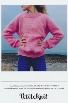 Ingen Dikkedarer sweater junior - PetiteKnit strikkeopskrift