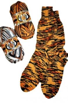 Strømper i Safari-strømpegarn