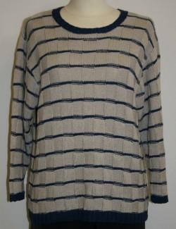 Bluse med tern model Maria strikket i Arezzo Lin