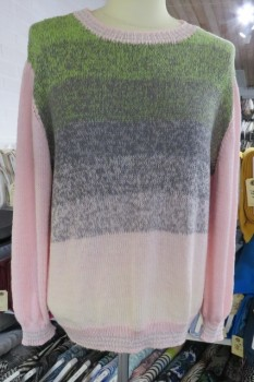Bluse strikket i Rainbow Cotton