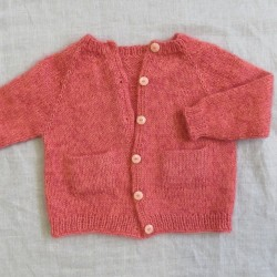Ellens cardigan strikket i Trunte og Silk kid mohair