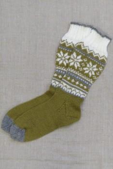 Strømper med mønster strikket i Sock 4