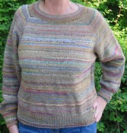 Bluse strikket i organic 350 og rester