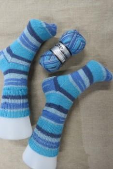 Strømper i New Running i støvet blå turkis denim