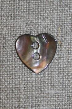 Perlemors-knap hjerte mørk