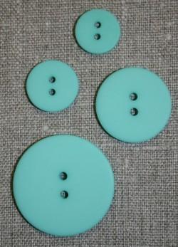 Mint/aqua 2-huls knap 15 mm.