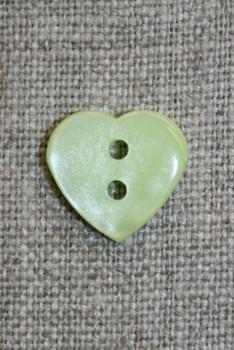 Blank hjerte-knap, lysegrøn