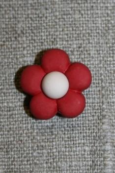 2-farvet blomsterknap bordeaux/creme