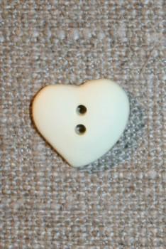 Asymetrisk hjerteknap, off-white 15 mm