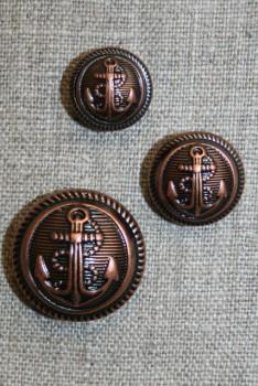 Uniforms-knap m/anker, kobber 15 mm.