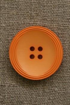 Orange 4-huls knap, 28 mm.