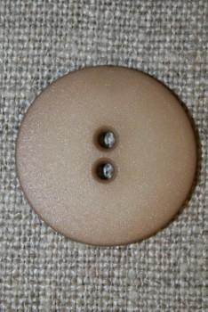 Lysebrun 2-huls knap, 22 mm.