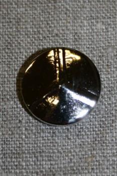 Sølvknap 3-delt, 20 mm.