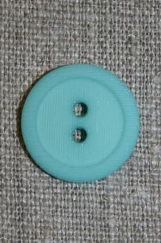 Aqua 2-huls knap m/kant, 20 mm.