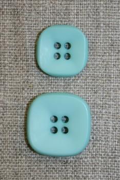 Firkantet 4-huls knap 23 mm. mint
