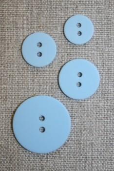 2-huls knap lyseblå 25 mm.