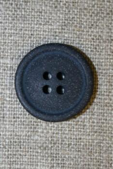 4-huls knap mørkeblå granit-look, 20 mm.