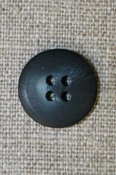 4-huls knap meleret mørkeblå/denim, 18 mm.