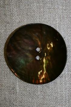 Perlemors-knap brun, 44 mm.