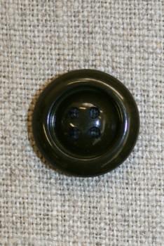 4-huls knap mørkegrøn