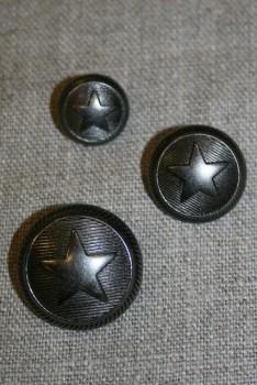 Uniforms-knap m/stjerne gun-metal