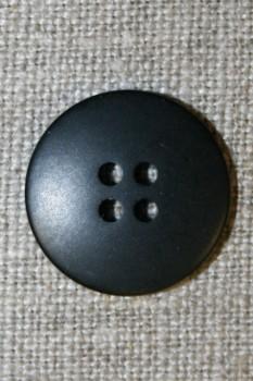 4-huls knap sort 20 mm.