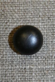 Rund knap, 11 mm. sort blank