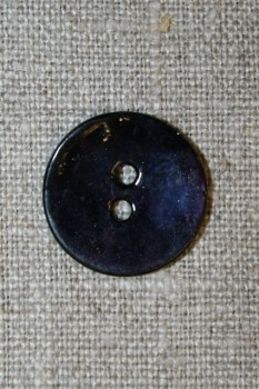 Perlemorsknap mørkeblå, 20 mm.
