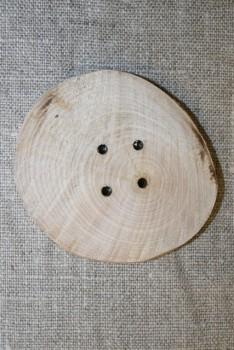 Håndlavet rå træknap, 55 mm.