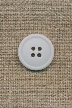 4-huls knap lys babylyseblå, 18 mm.