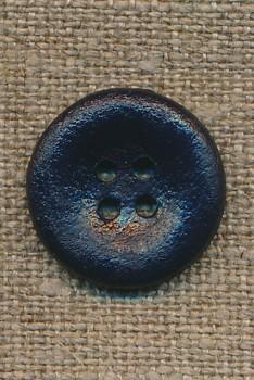 4-huls knap mørkeblå, 20 mm.