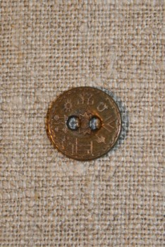 Knap gl.guld m/hieroglyffer, 12 mm.