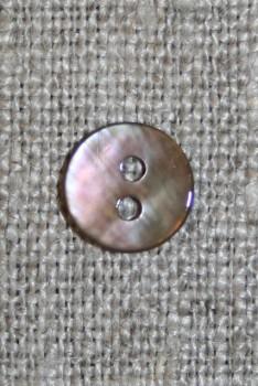Lille perlemors-knap 9 mm. lysebrun