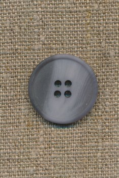4-huls knap støvet lyseblå/grå, 23 mm.