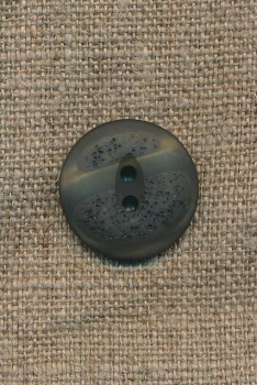 2-huls knap meleret grå-grøn/mørkegrøn, 20 mm.