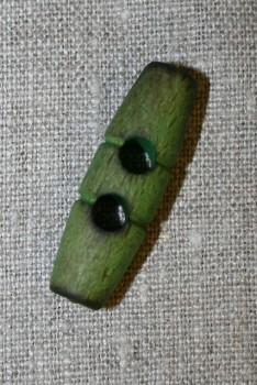 Aflang træknap/knebel 40 mm. lime