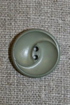 Knap m/buer, grå-grøn 20 mm.
