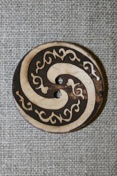 Træknap m/spiral 34 mm.