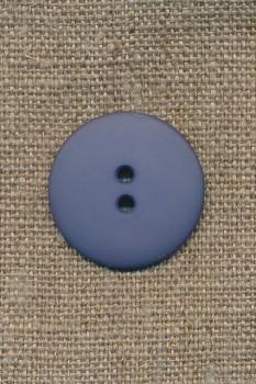 2-huls knap støvet blå/denim, 25 mm.