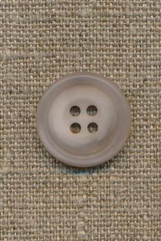 4-huls knap sand/klar, 20 mm.