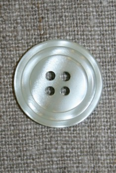 4-huls knap m/cirkel, lys lysegrå/blå