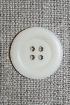 4-huls knap off-white, 23 mm.