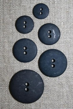 Mørkeblå 2-huls knap i 6 str.