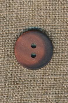2-huls knap brændt orange/brun 18 mm.