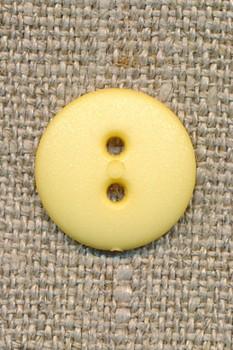 2-huls knap lys gul 15 mm.
