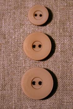 Beige 2-huls-knap, 23 mm.